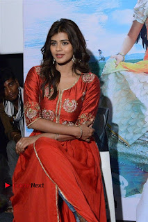 Actress Heba Patel Latest Stills in Red Dress at Mister Movie Trailer Launch Event  0022.jpg