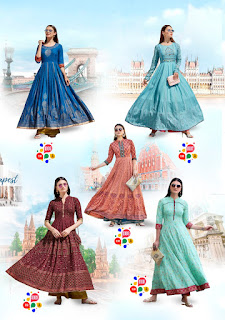 Kajal Style Fashion Colorbar vol 4 Party wear kurtis