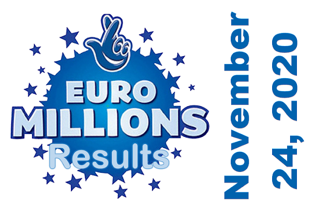 EuroMillions Results for Tuesday, November 24, 2020
