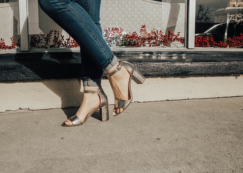 block heels that you can wear all day, work heels, glitter shoes