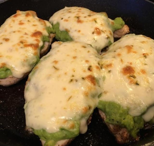 Guacamole Chicken Melt #healthy #lowcarb