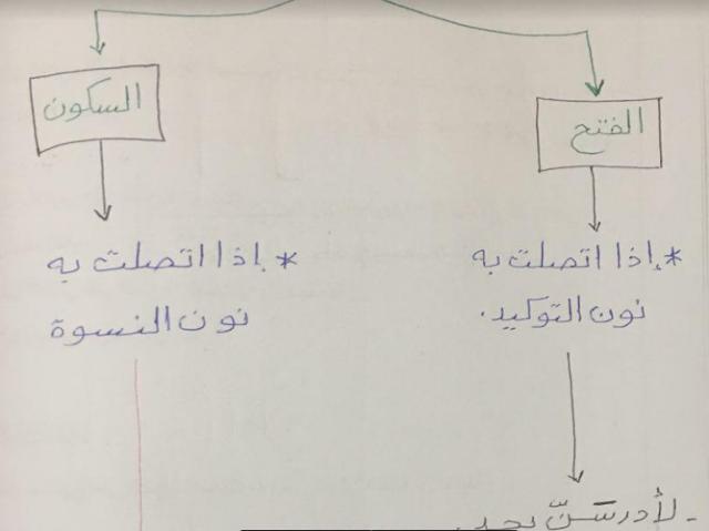 تشجيرات لغة عربية بناء الفعل للصف الثامن إعداد العشماوي