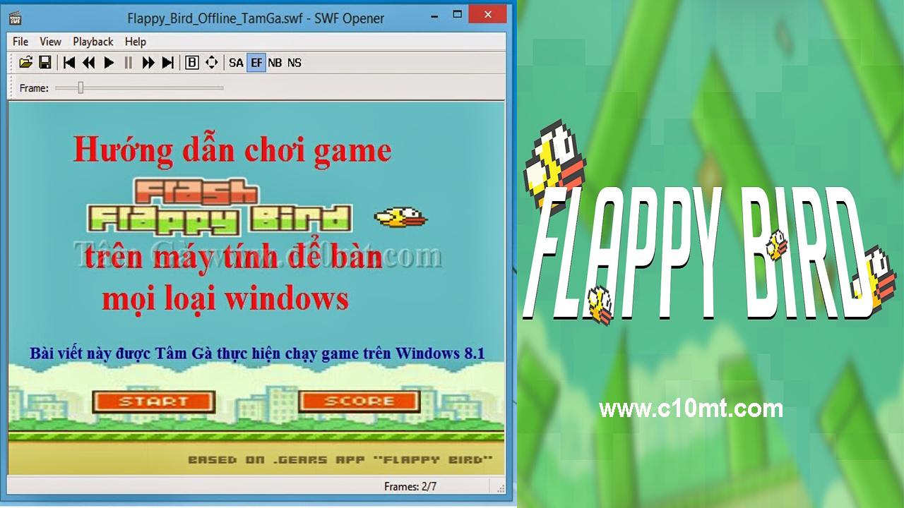 Download game SWF Flappy Bird Offline Windows 8,7,XP