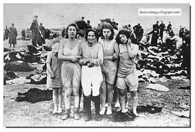 Jewish women before their execution  Liepeja, Latvia, Einsatzgruppen Nazi exterminators