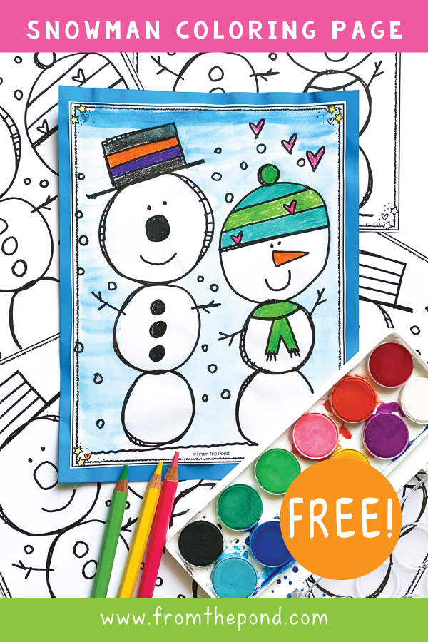 Snowman Coloring Page