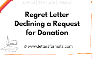 sample letter declining a request for donation