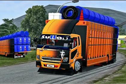 Mod Truck Fuso Angkut Gentong Air By AJB Team