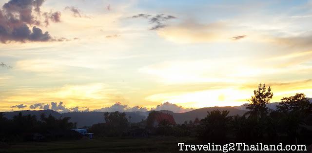 Sunset in Na Noi in Nan - Thailand