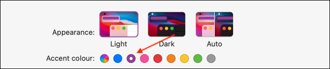 اختر Accent Color في macOS