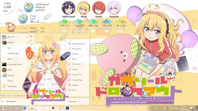 Windows 10 Ver. 1703 Theme Gabriel DropOut by Enji Riz