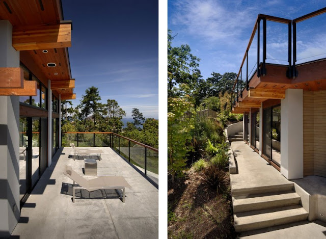 Photos of the balcony and sidewalk of an amazing home armada house