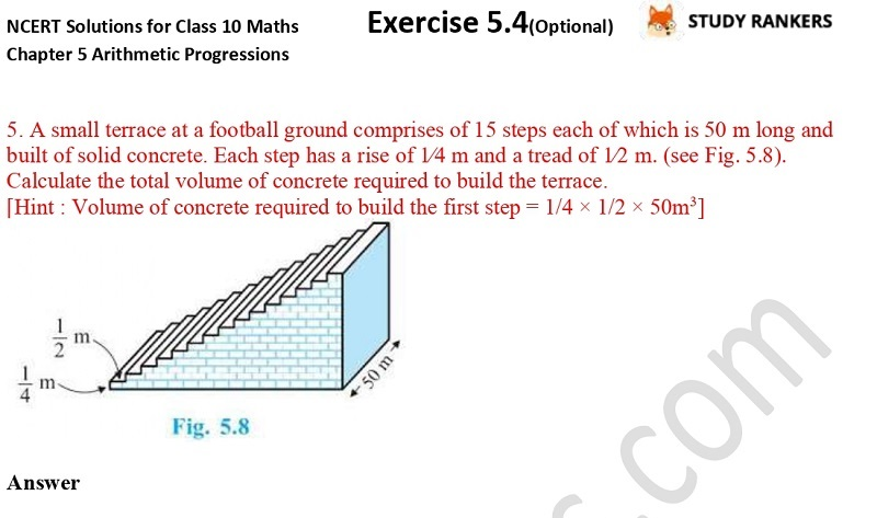NCERT Solutions for Class 10 Maths Chapter 5 Arithmetic Progressions Exercise 5.4 Part 4