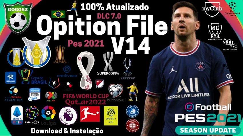 Option File V14 Season 2021-2022 For eFootball PES 2021 PC