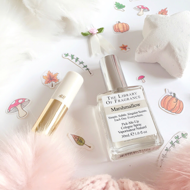 Autumnal Picks | Lush Star Dust, The Library Of Fragrance Marshmallow, H&M Powder Puff Lipstick