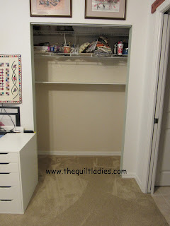 How to make an office closet by The Quilt Ladies