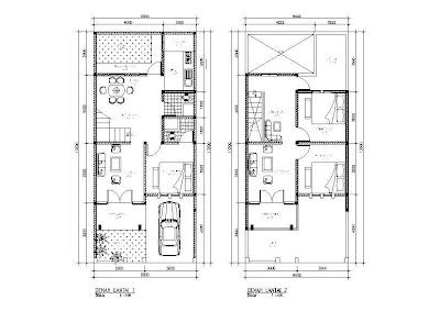 gambar denah rumah 2 lantai | info menarik