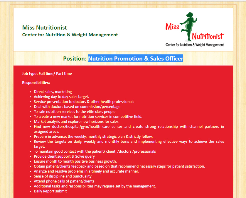 Miss Nutritionist Center For Nutrition  Weight Management