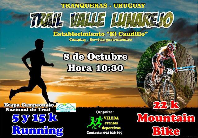 Trail y MTB en Valle del lunarejo (Tranqueras - Rivera, 08/oct/2017)