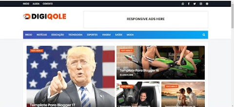 Digiqole News Magazine Blogger Templates