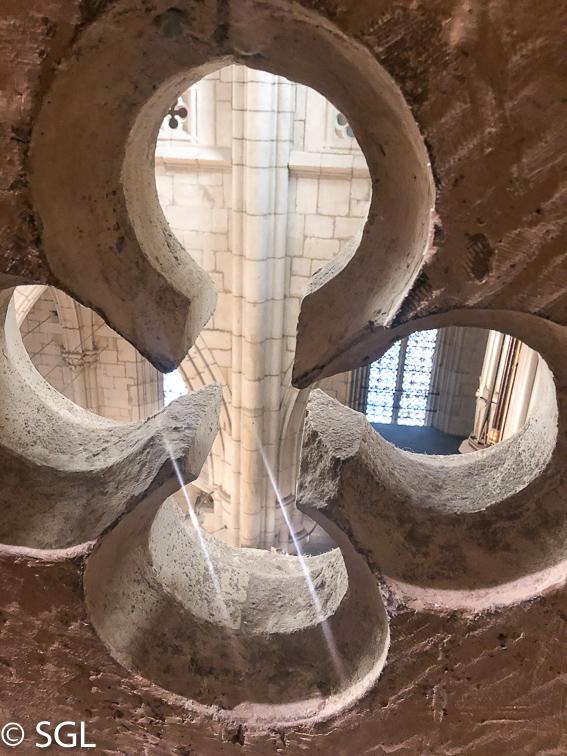 Catedral de Vitoria. Detalle. Abierto por obras