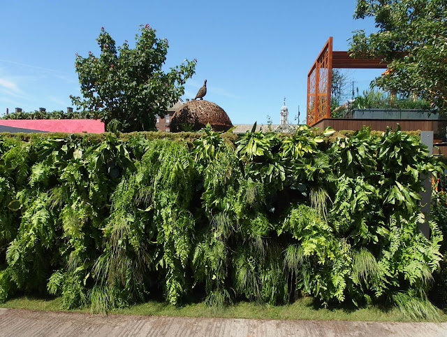 This verdant living wall forms part of the lower level of Kate Gould's City Living Fresh garden
