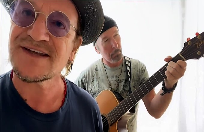 "Escucha a Bono Vox y The Edge de U2 interpretar el clásico de Led Zeppelin ""Stairway To Heaven"""
