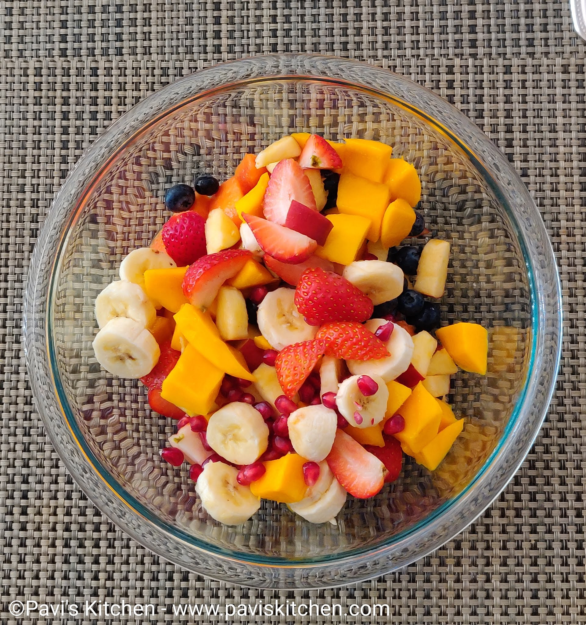 fruit salad Indian recipe | fruit chaat recipe | tropical fruit salad