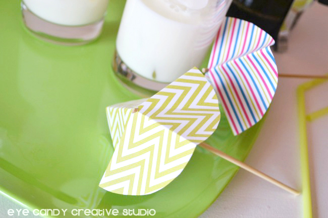 drink umbrellas assembled, chevron drink umbrella, striped drink umbrella
