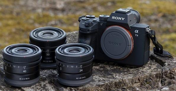 Sony 50mm, 40mm and 24mm G-series Full-Frame Lenses
