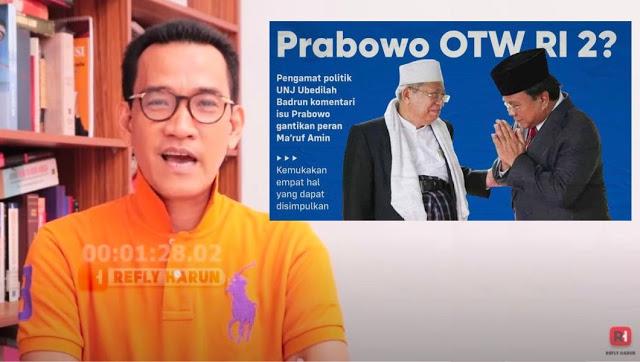 Pakar Hukum Tata Negara Refly Harun: Bisakah Prabowo Gantikan Ma'ruf Amin? Ini Aturan Konstitusinya