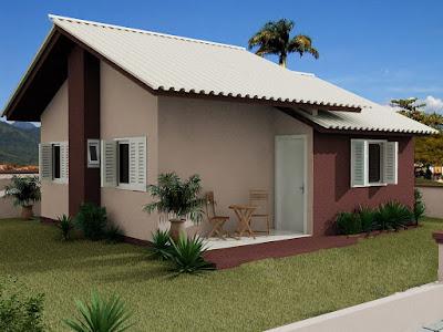 fachadas de casas populares