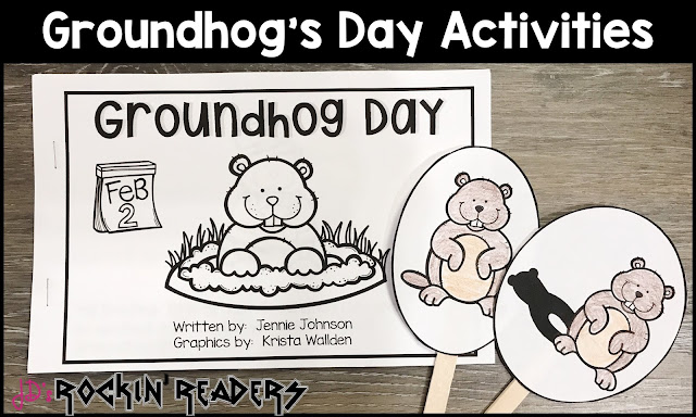 These Groundhog's Day activities and printables are perfect for the kindergarten, first grade, or second grade classroom.  Students learn facts about groundhogs while doing other fun activities.  There is also a directed drawing, hat craft, word search, graphing, and student book.
