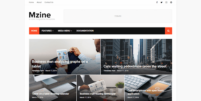 Download Free Premium MZine News Magazine Blogger Template