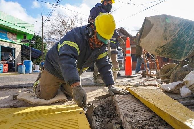 Continúa la instalación de nuevas rampas de accesibilidad en Vicente López