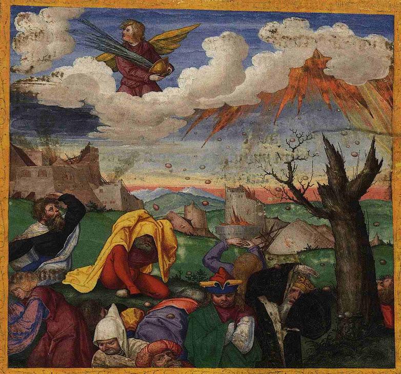 Seu poder de destruição não terá igual. Ottheinrich-Bibel 14, Bayerische Staatsbibliothek, Cgm 8010, Folio299r_Rev16B