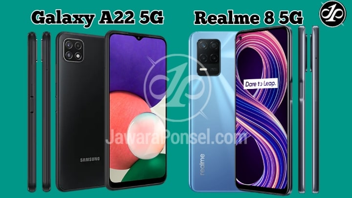 lebih bagus mana Samsung galaxy A22 5G dengan Realme 8 5G