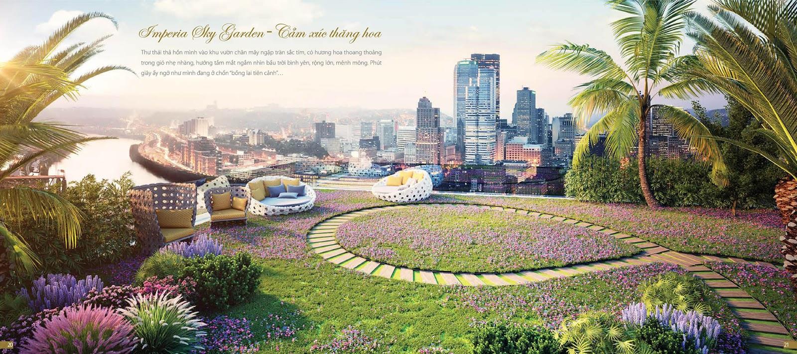 Vườn trên mấy của chung cư Imperia Sky Garden