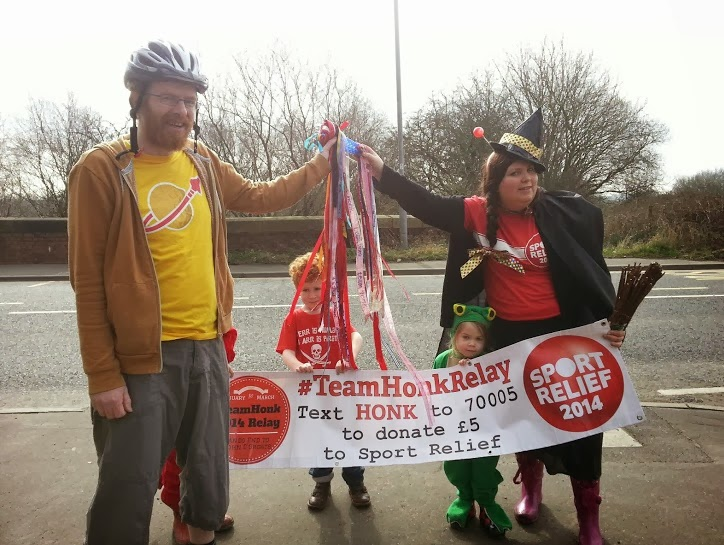 Team Honk Sport Relief Baton Relay The BRick Castle