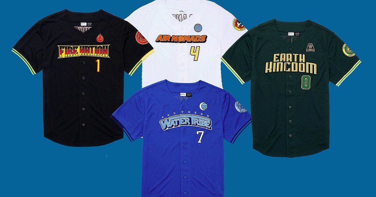 BoxLunch Launches 'Avatar: The Last Airbender' Baseball Jersey Collection