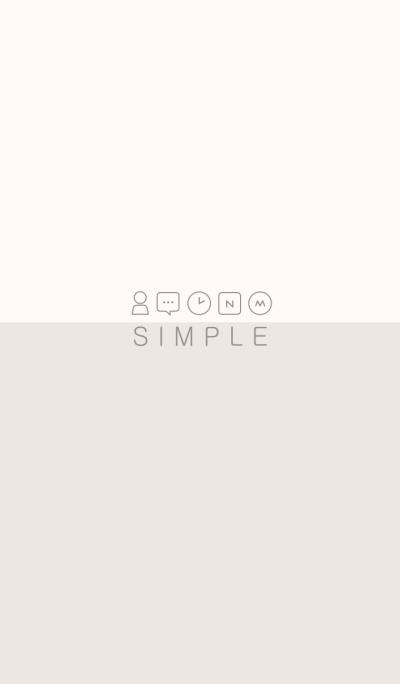 SIMPLE(beige ivory)V.7