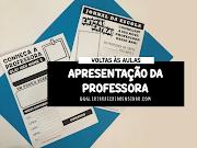 VOLTA ÀS AULAS: APRESENTAÇÃO DA PROFESSORA