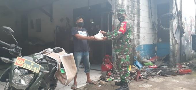 Korban PHK Dapat Bantuan Beras dari ATM Si Komandan Kodim Depok