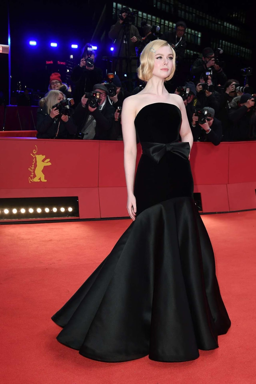 Elle Fanning dazzles in a dramatic velvet gown for The Roads Not Taken premiere at the Berlinale Film Festival