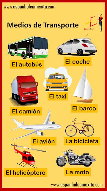 Meios de transporte em espanhol