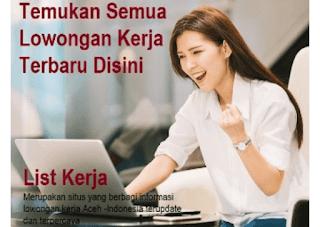 situs lowongan kerja online Aceh terbaru