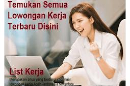 Situs Lowongan Kerja Aceh Terbaru
