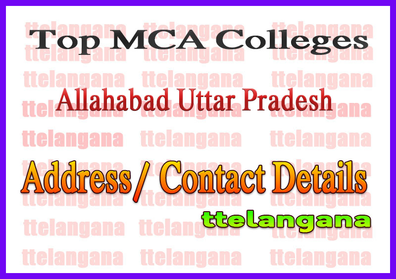 Top MCA Colleges in Allahabad Uttar Pradesh