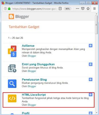 pilih html/javascript