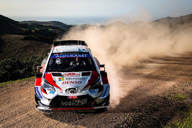 Elfyn Evans Toyota World Rally Car