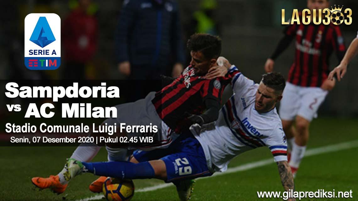 Prediksi Sampdoria vs AC Milan 07 Desember 2020 pukul 02.45 WIB